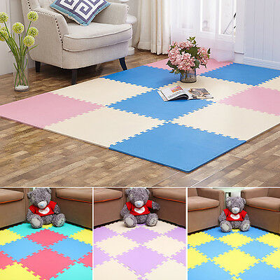 9pcs Soft EVA Foam Puzzle Mat Floor Crawling Rugs Baby Play Game Yoga Protect