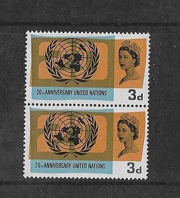 1965 Gb Commemoratives Un 'lake In Russia' Flaw Mnh Pair