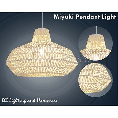 MIYUKI Natural Modern Home Restaurant Cafe Ceiling Pendant Lighting Lamp Lights