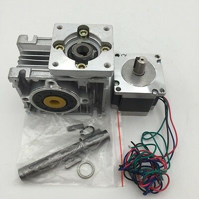 Worm Gearbox 7.5:1 10:1 15:1 20:1 30:1 Reducer+Nema23 Stepper Motor L56/76/112mm