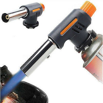Portable Outdoor BBQ One Touch Gas Torch Butane Burner Safety Tools Hot