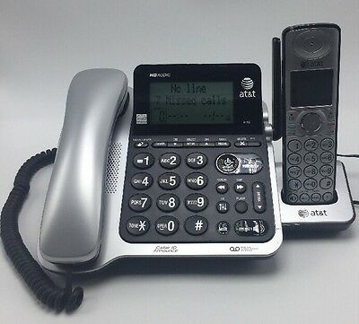 """AT&T CL84202 Corded/Cordless with Answering & CID """"1 Corded & 1 Cordless"""""""