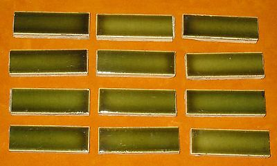 ANTIQUE LOT of 12 VICTORIAN FIREPLACE SURROUND BORDER TILE FROM CHICAGO MANSIONS
