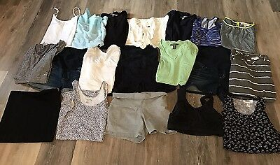 Maternity Clothes 18 Piece LOT Shirts Shorts Dresses Summer Size Small & X-Small