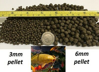 Bulk Buy 3/6Mm Pellets Koi Carp Goldfish Pond Fish Food Feeds Growth 44% Protein