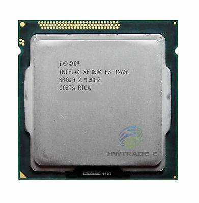 Intel Xeon E3-1265L SR0G0 2.4GHz 4Core 45W 8Thread 8M Cach LGA1155 Processor