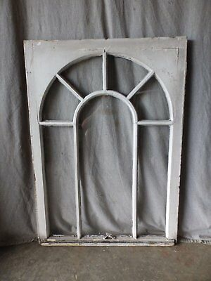 Antique Palladian Window Dome 7 Lite Arch Top Cabinet Shabby Chic 40X29 66-17P