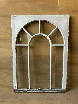 Antique Palladian Window Dome 7 Lite Arch Top Cabinet Shabby Chic 40X29 67-17P
