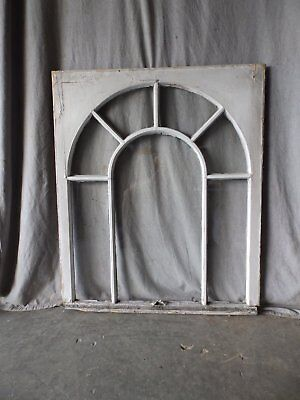 Antique Palladian Window Dome 7 Lite Arch Top Cabinet Shabby Chic 41X34 69-17P