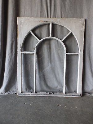 Antique Palladian Window Dome 7 Lite Arch Top Cabinet Shabby Chic 40X34 70-17P