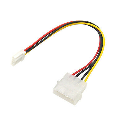 "4 Pin Molex To 3.5"" Floppy Drive FDD Internal Power Cable Adaptor 20CM"
