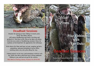 NEW  for 2017 - Pike Fishing DVD -  DEADBAIT SESSIONS Mick Brown - SIGNED COPY