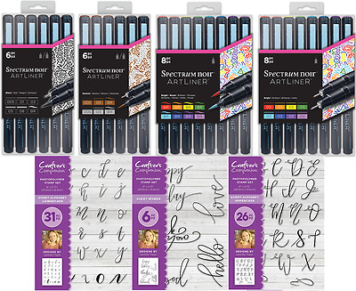 SPECTRUM NOIR ARTLINER 6/8pc Pen Sets & Stamps Crafters Companion Free UK Post