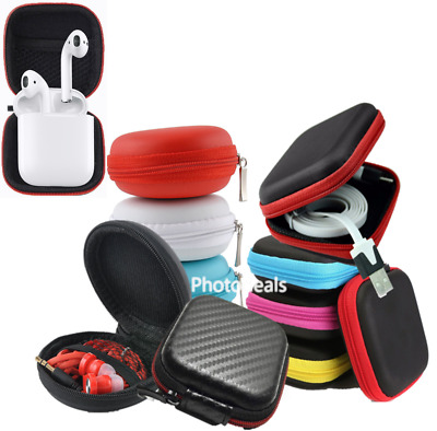Hard Carrying Case Storage Zipped Pouch For SD Card Earphone Headphone Earbuds