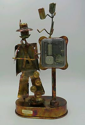 """*Vintage* STEAMPUNK Western Man Tin MUSIC BOX """"In The Good Old Summer Time"""""""