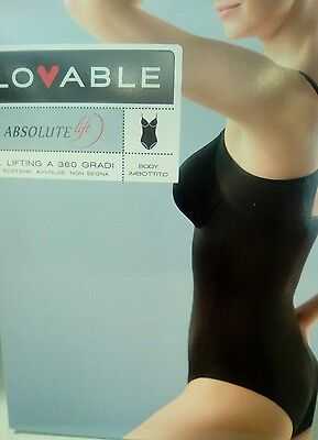 Body LOVABLE contenitivo ABSOLUTE LIFT con ferretto FODERATO art L03X8 col. NUDO