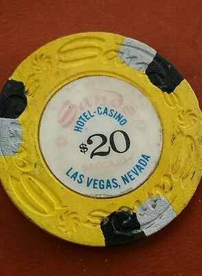 Sands, Las Vegas $20 rare 15th issue/R/10  obsolete house baccarat casino chip