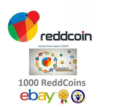 1000 RDD Coin (ReddCoin) On Paper Wallet (Cryptocurrency BitCoin)