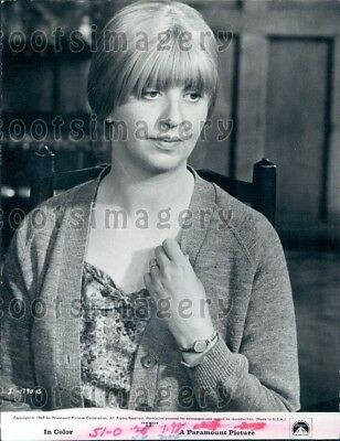 1969 Wire Photo Actress Mary MacLeod in Movie If