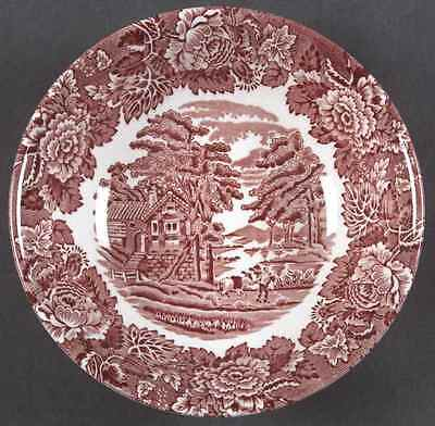 Wood & Sons ENGLISH SCENERY PINK (CONTINENTAL SHAPE) Cereal Bowl 5919735