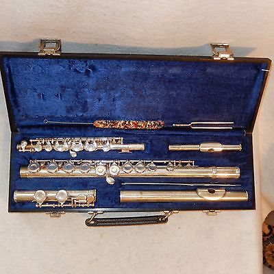 Gemeinhardt Flute M2 & PICCOLO C Combo SOLID Silver Head Joint + Hard Case Rods