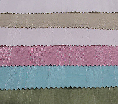 Solid Mill Foil Striped Jacquard Twill with Lurex Cotton Fabric by Yard / Swatch