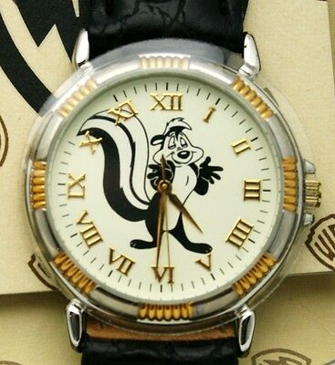 Pepe Le Pew Watch Warner Bro. Two Tone 36 mm Watch Vintage NIB