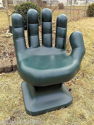 "GIANT Dark Green HAND SHAPED CHAIR 32"" adult size 70's Retro EAMES iCarly NEW"