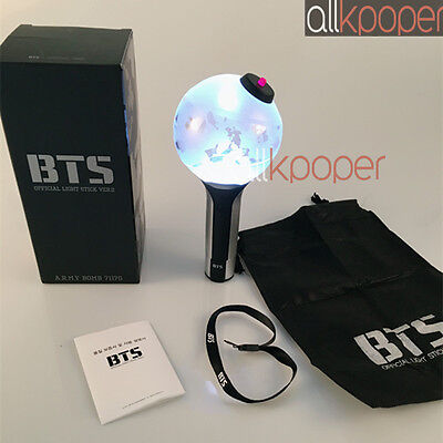 KPOP BTS ARMY Bomb Light Stick Ver.2 Bangtan Boys Fan Made Lightstick Lamp