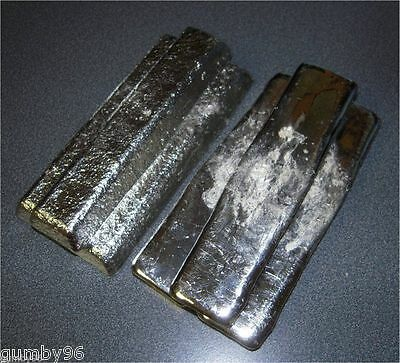 1 Pound TIN metal Ingot 99.98% pure Bullion -  453.6+ grams lb BAR
