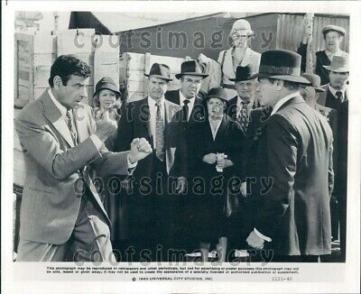 1980 Wire Photo Actors Walter Matthau & Tony Curtis