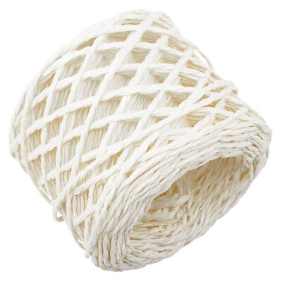30 Metres White Twisted Raffia Paper Ribbon Crafts Gift Wrapping Scrapbook