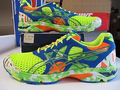 check out a3b68 ad999 RARE Asics Gel Noosa Tri 7 Yellow Green Blue Orange GLOW IN THE DARK T214N  0784