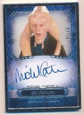 Star Wars Masterworks Michael Carter Fortuna Autograph Auto Silver Frame 07/10