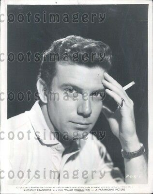 1957 Wire Photo Handsome Actor Anthony Franciosa