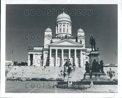 1986 Wire Photo Lutheran Cathedral Senate Square Helsinki Finland