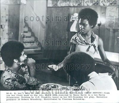 1973 Wire Photo Actress Peggy Pettitt in Movie Black Girl