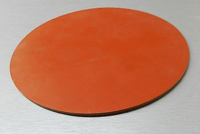 "SILICONE Rubber Pad 8"" Round 1/4"" Thick Gasket Solid HIGH TEMPERATURE 8"" D x1/4"