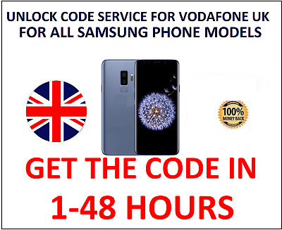 Vodafone UK Samsung Galaxy Unlock Code For S7 Edge S7 Plus S6 J3 J5 J7 A5