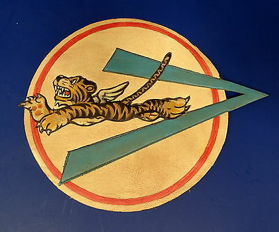 A.v.g. Flying Tigers 23Rd Ftr. Grp. Layered Leather Patch