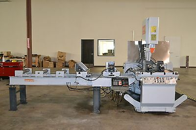 Marvel Series 81A10/PC Vertical Band Saw w/ Bar Feed Conveyor Table