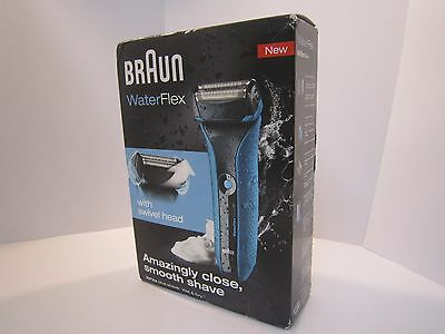 Braun Wf2S Water Flex Blue Shaver Wet & Dry With Swivel Head Brand New Boxed