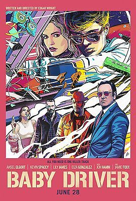 """Baby Driver Movie Poster 2017 Film Kevin Spacey Edgar Wright 13x20"""" 24x36"""" 32x48"""