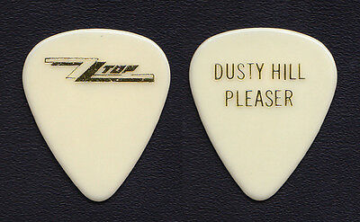 ZZ Top Dusty Hill Signature Pleaser White Guitar Pick 1985-1986 Afterburner Tour