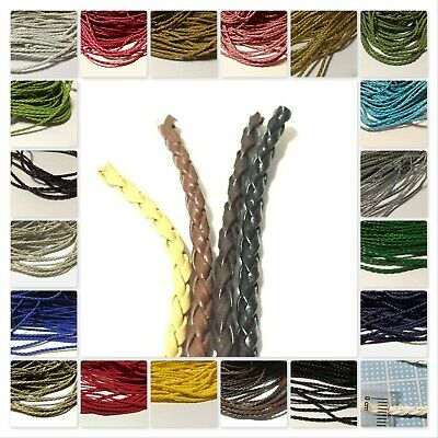 3,5,10 meters of 3mm  Twisted Leather Cord