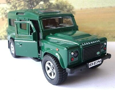 GREEN LAND ROVER DEFENDER Personalised Plates Model Toy Boy Dad Birthday Present