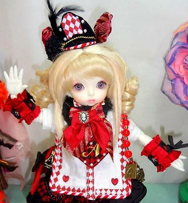 "Fairyland LittleFee Alice in Wonderland Resin 10"" BJD Red Heart Dollheart Outfit"
