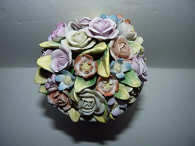 Jeanne Reed's - Porcelain Mixed Bouquet Capodimonte Flowers in Footed Urn