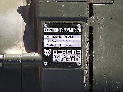Berema Pionjar 120 Rock Drill With Case and Bits