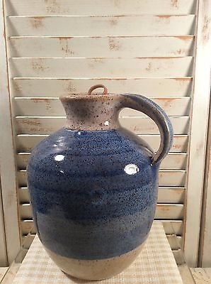 Pottery Corked Jug By The Wizard Of Clay Excellent Condition
